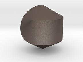 Hexasphericon Solid & True in Polished Bronzed-Silver Steel