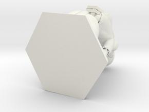 Cyborg n.9 PenStand/PenHolder in White Natural Versatile Plastic