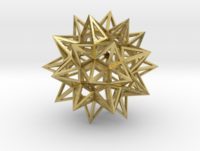 "Stellated Truncated Icosahedron 2.2"" in Natural Brass"