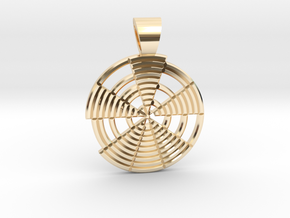 Prime's spiral [pendant] in 14k Gold Plated Brass