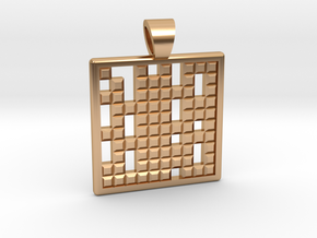 Primes's grid [pendant] in Polished Bronze