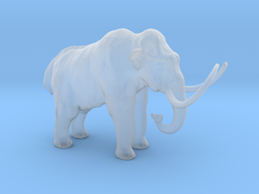 N Scale Woolly Mammoth in Smooth Fine Detail Plastic