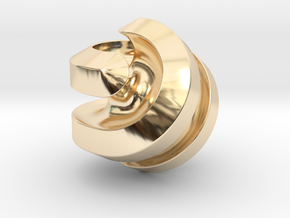 Hexasphericon Channels in 14k Gold Plated Brass