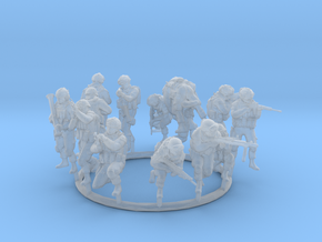 1:72 Soldiers Combat Group I (Poses 1 to 13) in Smooth Fine Detail Plastic