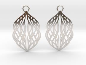 Stream earrings in Platinum: Small
