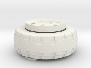 Legacy Jeep Spare Wheel in White Natural Versatile Plastic