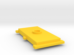 Rudy the Robot Battery Cover in Yellow Processed Versatile Plastic
