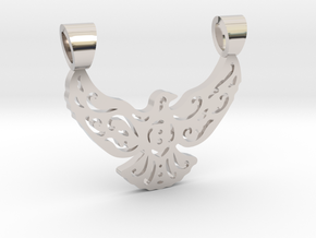 Lacework bird [pendant] in Platinum