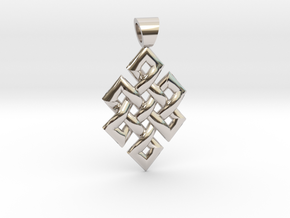 Flag knot [pendant] in Platinum