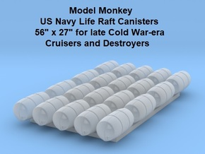 1/144 Life Raft Canisters, Cruisers & Destroyers in Smoothest Fine Detail Plastic