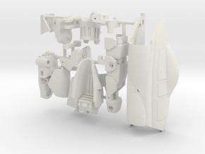 VF-9 LEFT LEG in White Natural Versatile Plastic: 1:60