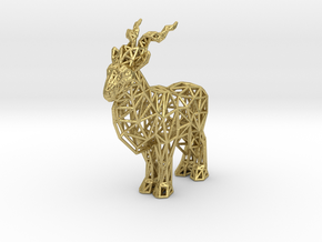 Markhor (adult male) in Natural Brass