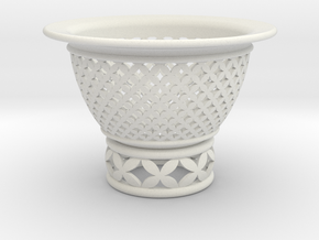 Neo Pot Woven Circles 3 in in White Natural Versatile Plastic