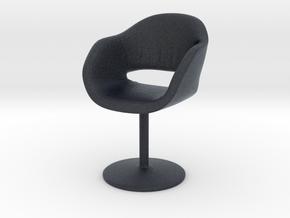 Miniature Busnelli Charme Chair - Revolving Base in Black PA12: 1:12