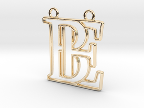 Monogram with initials B&E in 14k Gold Plated Brass