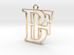 Monogram with initials B&F in 14k Gold Plated Brass