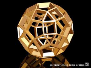 Polyhedral Sculpture #28A in White Natural Versatile Plastic