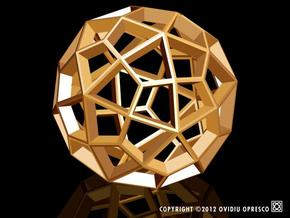 Polyhedral Sculpture #29A  in White Processed Versatile Plastic