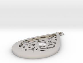 Persephone pendant in Rhodium Plated Brass: Medium