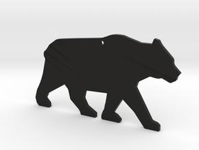 YM bear in Black Natural Versatile Plastic
