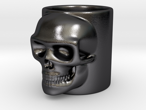Skull Shot in Polished and Bronzed Black Steel