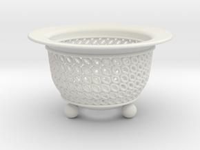Neo Pot Ovals 4in.  in White Natural Versatile Plastic