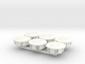 Fiero Carpet Trim Covers Set of 6 in White Processed Versatile Plastic