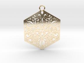 Ornamental pendant in 14K Yellow Gold