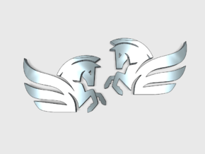 60x Winged Horse : (L&R) Shoulder Insignia Pack in Smooth Fine Detail Plastic