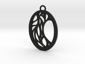 Meliae pendant in Black Natural Versatile Plastic: Large