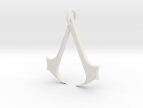 Assassins Creed Pendant in White Natural Versatile Plastic