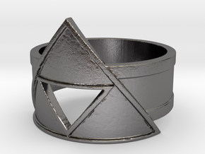 TriForce  Ring in Polished Nickel Steel: 5 / 49