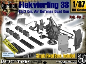 1/87 Ground Flakvierling 38 Set002 in Smooth Fine Detail Plastic