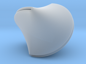 Sloped Sphericon Large & Hollow in Smooth Fine Detail Plastic