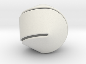 Hexasphericon Large & Hollow in White Natural Versatile Plastic