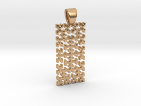 Big Hilbert curve [pendant] in Polished Bronze