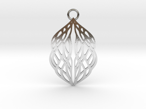 Stream pendant in Polished Silver: Large