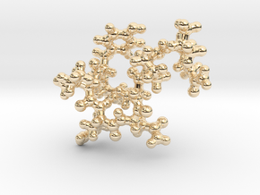 Oxytocin Keychain - Most probable conformation in 14k Gold Plated Brass