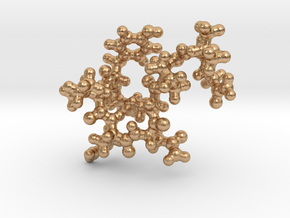 Oxytocin Keychain - Most probable conformation in Natural Bronze