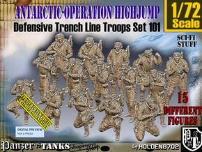1/72 Antarctic Troops Set101 in Smooth Fine Detail Plastic