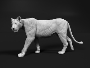 Lion 1:12 Walking Lioness 2 in White Natural Versatile Plastic