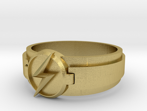 Kid Flash Ring Size 9 in Natural Brass