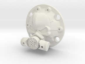 WPL Toxic Skull Diff Cover in White Natural Versatile Plastic