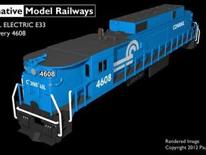 TTE3302 TT scale E33 loco - Conrail 4608 in Smooth Fine Detail Plastic