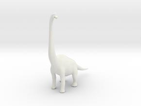 Brachiosaurus in White Natural Versatile Plastic