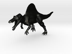 Spinosaurus Aegyptiacus (JP Style) Version 2 in Matte Black Steel