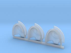Royal Fists Gravus Shoulder Pads x3 L in Smooth Fine Detail Plastic