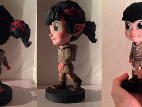 16.5cm Rosey The Sprite (High Res Model) in Full Color Sandstone