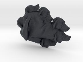Dog Multi-Faced Caricature (006) in Black Professional Plastic