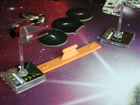 X Wing Range Ruler (Range 1) in Orange Processed Versatile Plastic